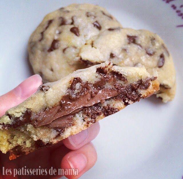 Les patisseries de mama: Cookies fourré au nutella