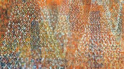 Tancredi Parmeggiani, Aspirazione a New York, 1952, olio e tempera su faesite, in mostra a Feltre fino al 28 agosto