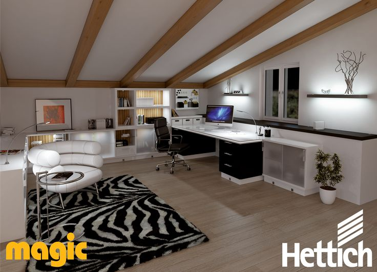 Working with light; stimulate your creativity and customise your home office with LED lighting by Magic Lighting available from Hettich. Visit our website for more inspiration & information! #lightingdesign #lightingfixtures