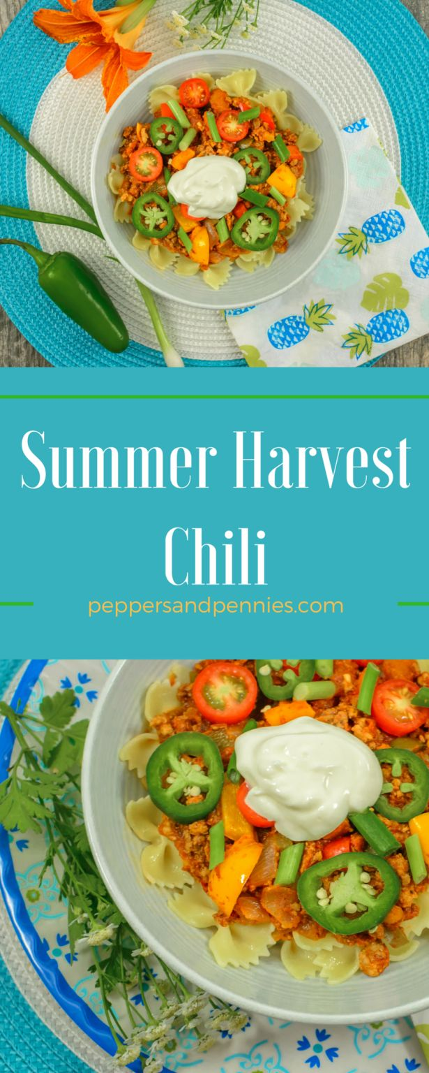 Summer Harvest Chili by Peppers & Pennies