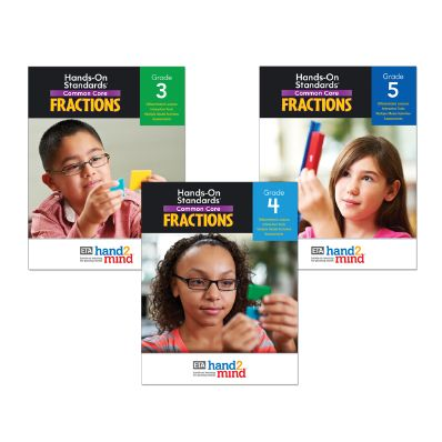 Hands-On Standards, Common Core Fraction Library