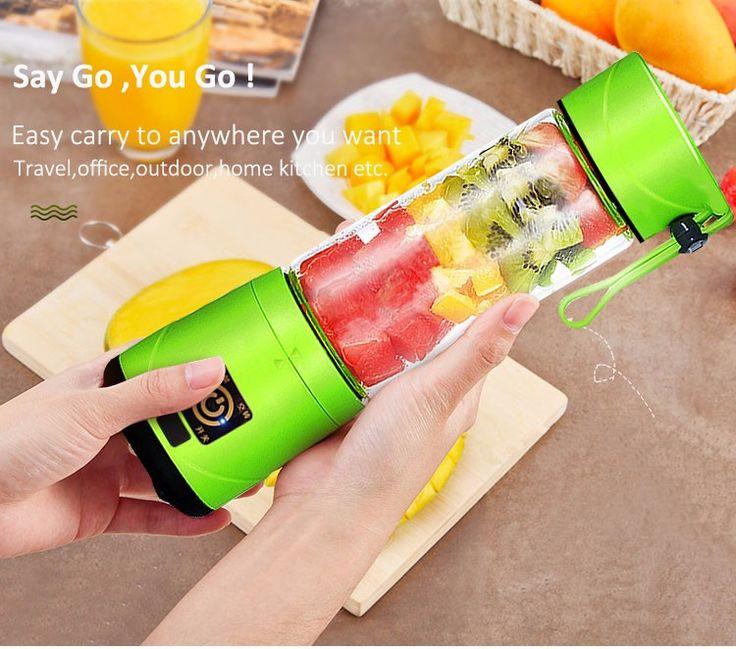 Rechargeable self blending portable juicer blender cup 380ML Vegetable Juice shaker bottle