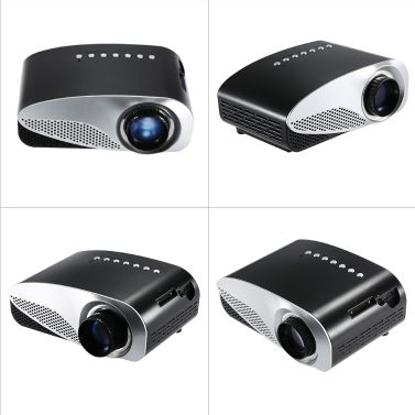 Mini LED Projector HD Contrast Ratio 500:1 with HDMI/SD/USB/Audio/VGA/AV for Home Theater Notebook Smart phones EU Plug | Tomtop.com