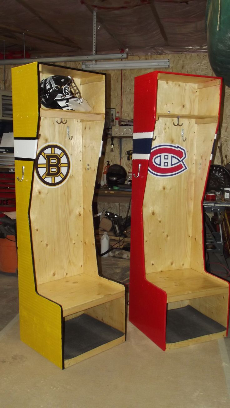 Hockey Stalls for my Grandsons for Christmas. If anyone is interested in these stalls I can make you one. The cost is $150.00 Due to Copyright issues I cannot put the Decals on them,but you can get your favourite team's decal online for about $30.00