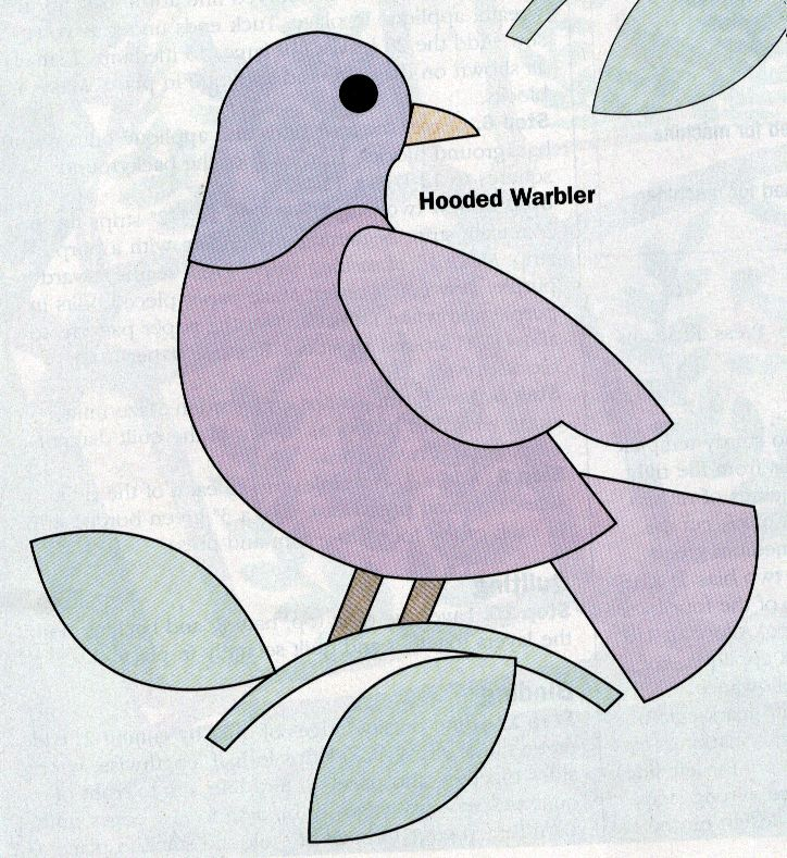 Image from http://www.quiltingworks.com/images/Bird%20House%20Swap/hoodedwarbler.gif.