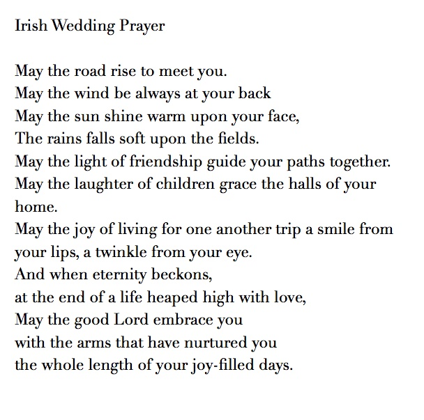 Irish Wedding Prayer Blessing Talk With Your Officiant About The Type Of Prayer You Want In Your