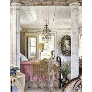 Love the wood plank ceiling and columns ~ makes even a small bedroom special!    Google Image Result for http://www.polyvore.com/cgi/img-thing%3F.out%3Djpg%26size%3Dl%26tid%3D57754467