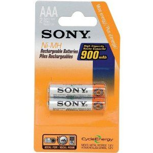 SONY NH-AAA-B2E RECHARGEABLE NIMH BATTERY BLISTER MULTIPACK (AAA 2 PK) (NH-AAA-B2EN) - by Sony. $13.99. LONG LASTING; IDEAL FOR ALL DIGITAL DEVICES; AAA; 2 PK