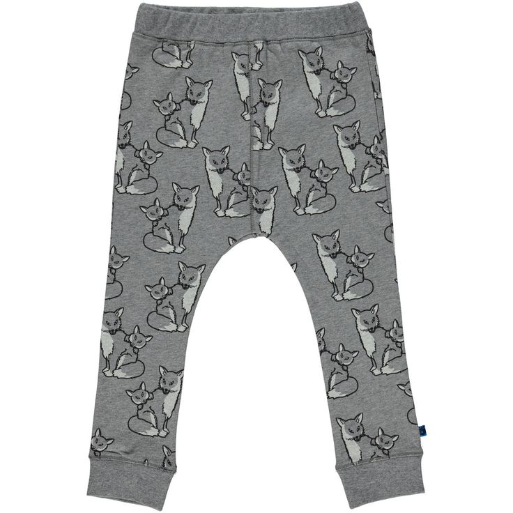 Smafolk Foxes Grey Jersey Trousers