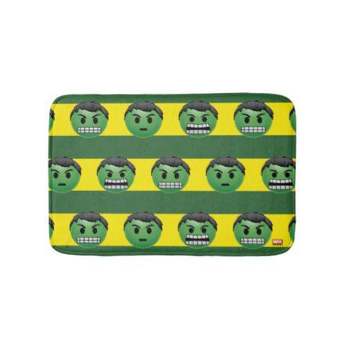 Hulk Emoji Stripe Pattern Bath Mat