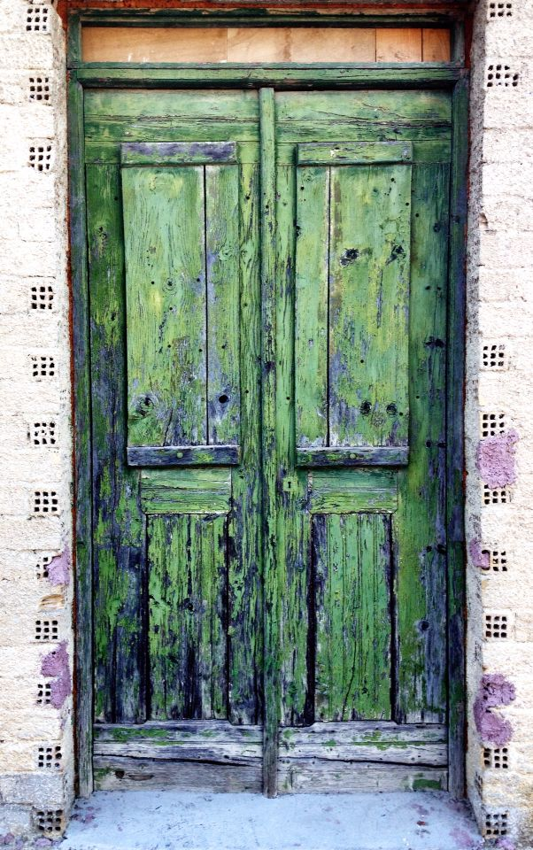 Wonderful vintage door in greek Island Zakynthos