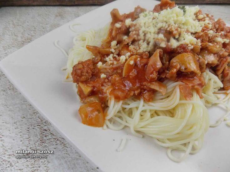 """Milánói """"makaróni"""" - klasszikusok gluténmentesen Egy igazi klasszikus a milánói """"makaróni"""", bár most spagettivel tálalva. Sokszor szerepel a közétkeztetés étlapjain is. Gluténmentes milánói makaróni recept. Gluténmentes tésztaételek"""