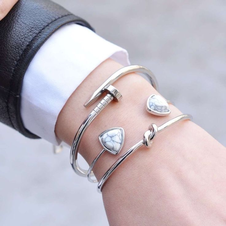 Clou Silver Cuff Bracelet - Majolie