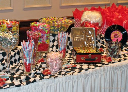 1950s candy table backdrop ideas | ... ! The 'candy bar' re-introduced guests to old candy favorites