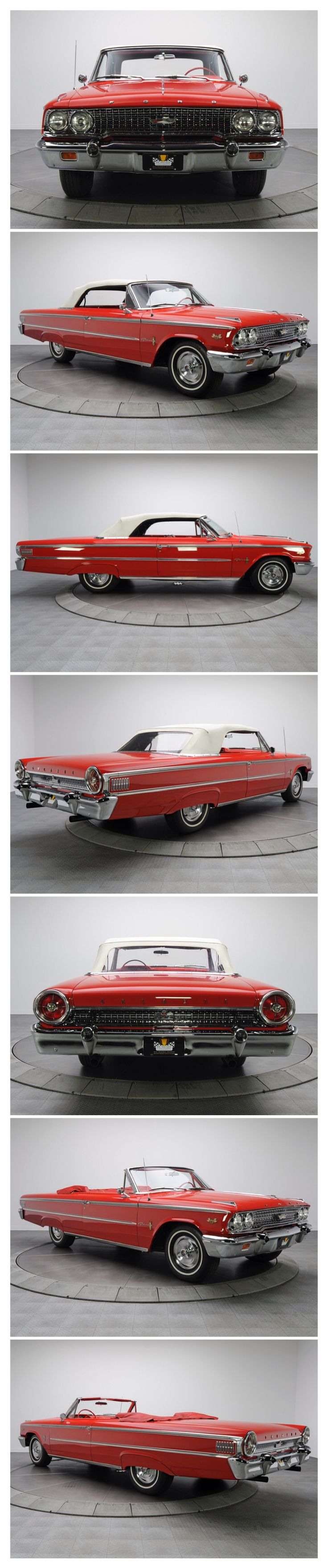 1963 Ford Galaxie 500 Convertible. I had one of these when I was 18.  It was red too.  I loved it.