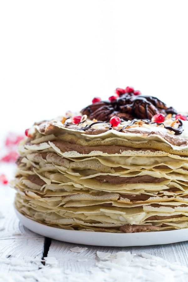 Cream Rum and Chocolate Mousse Crepe Cake (with 20 layers of crepes ...
