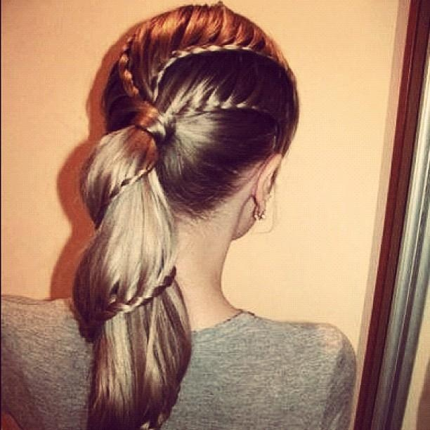 Like it better on JUST the ponytail, but cute! :)