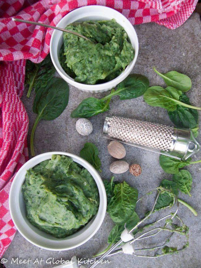 Картофельное пюре со шпинатом или стумп
