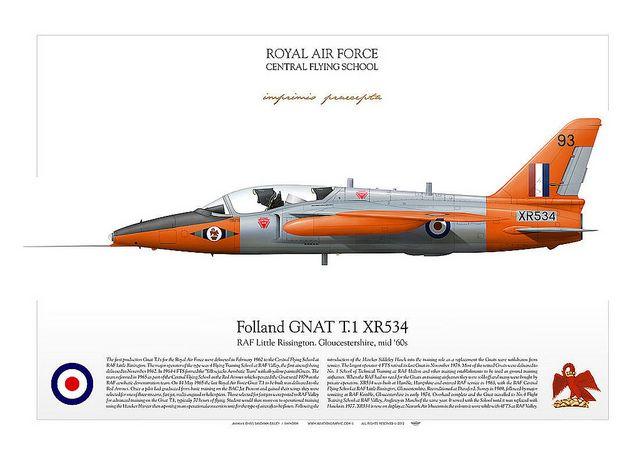 Folland GNAT T.1 XR534 R.A.F. Central Flying School Little Rissington 1965