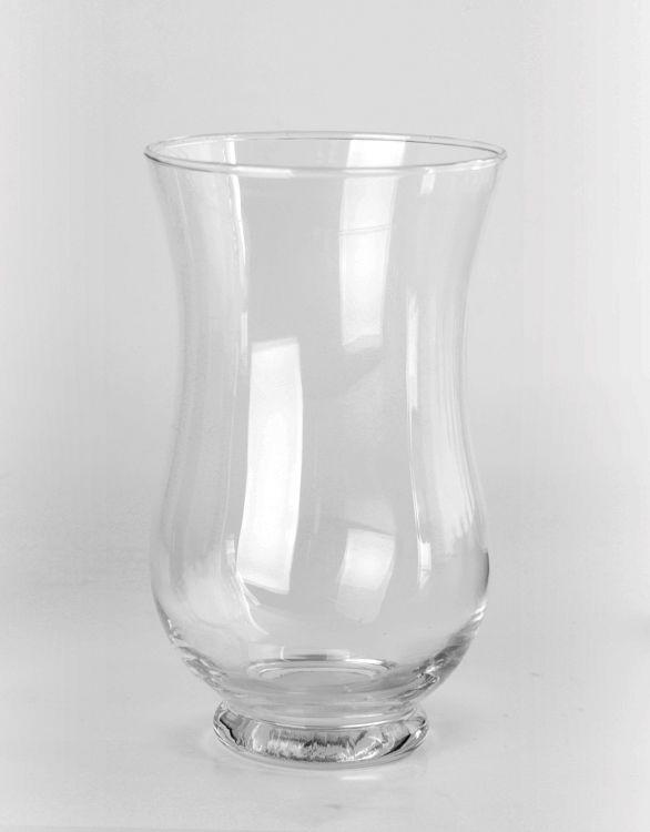 """Hurricane Vases - 9"""" Clear Glass Hurricane Vase"""