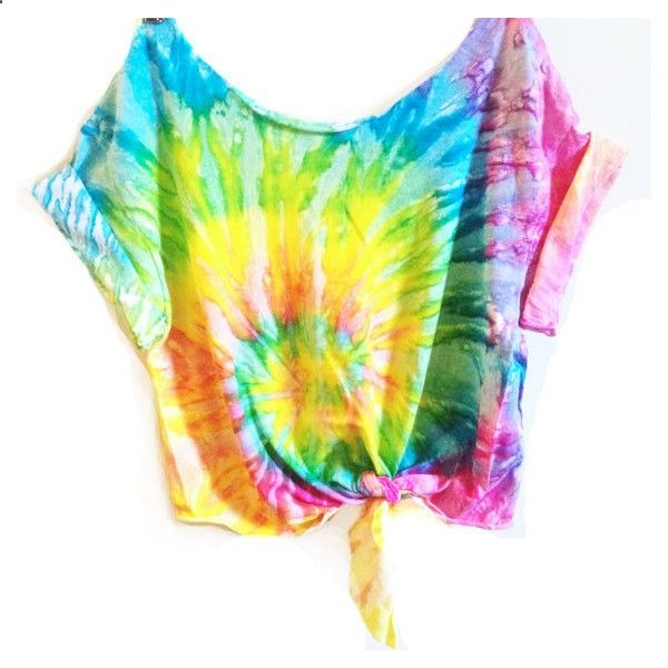 Tie Dye Crop Top Tiedye Tshirt Womens Clothing Music Festival... (£17) ❤ liked on Polyvore featuring tops, t-shirts, shirts, crop tops, crop t shirt, unisex t shirts, tie t shirt, tie dyed shirts and tie dye tee