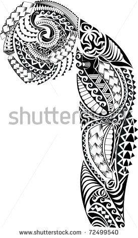 Tribal Arm Chest Tattoo                                                       …
