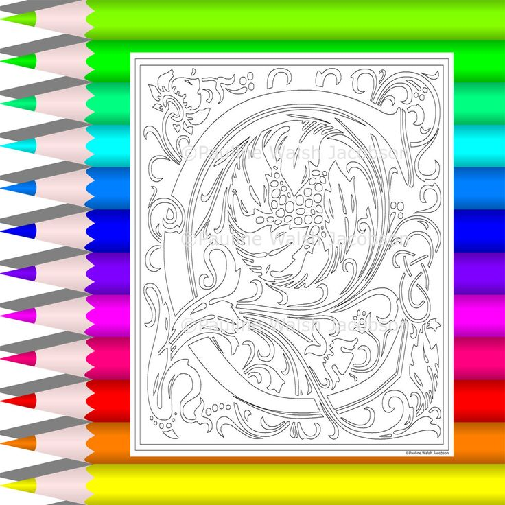 Adult Coloring Letters C