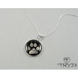 Dog paw silver pendant. #dog #silver #necklace #jewelry #tryb