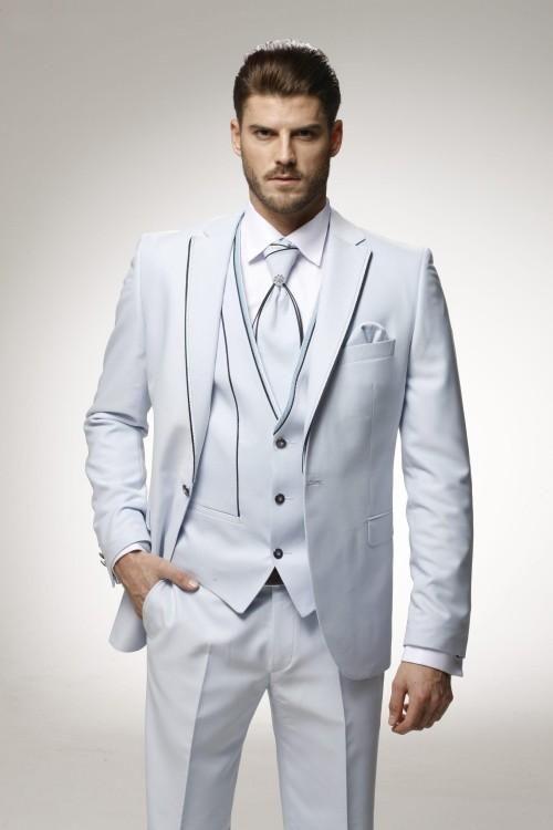 Latest Coat Pant Designs White Formal Custom Wedding Suits For Men Trim Best Man Jacket Fashion Beach Slim Fit 3 Piece Terno 681