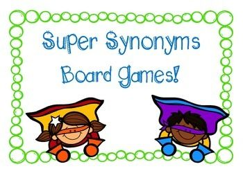 An engaging way to teach children about synonyms and expand their vocabulary, this pack contains two different board games.Each game consists of a game board and accompanying playing cards. Game 1 focuses on finding synonym matches, while Game 2 provides multiple choice options.