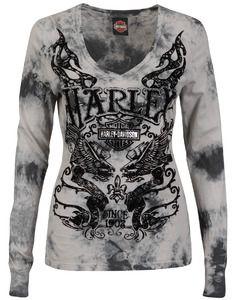 Harley-Davidson® Women's Shirt, Longsleeve V-Neck