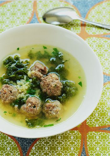 Italian Wedding Soup by Giada de Laurentis: Here is the link for the recipe.http://tinyurl.com/5ngl93  #Soup #Italian_Wedding_Soup #Giada_de_Laurentis