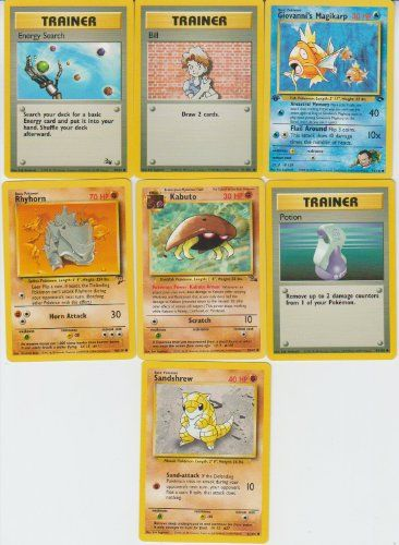 Pokemon 20 Card Lot with 1st ED Giovanne's Magikarp
