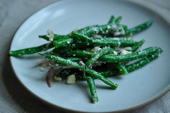 Lemony Green Bean Salad with Feta, Red Onion, and Marjoram, a recipe on Food52