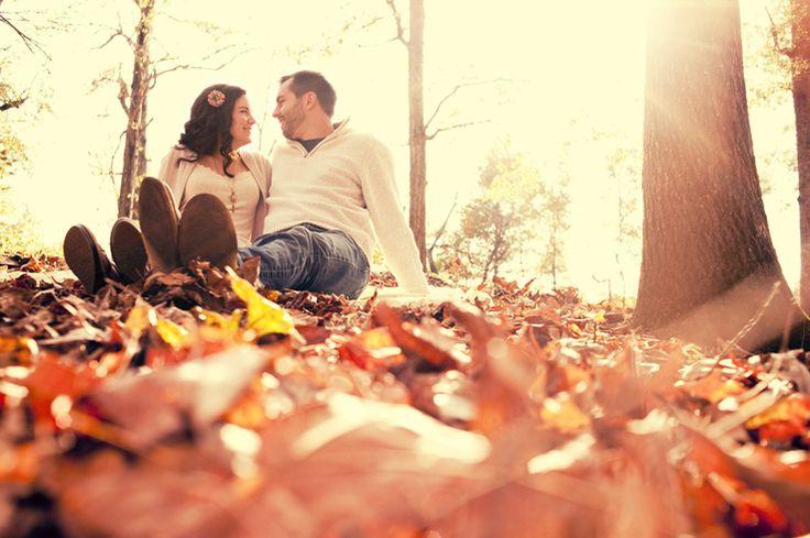Beautiful Fall engagement photo