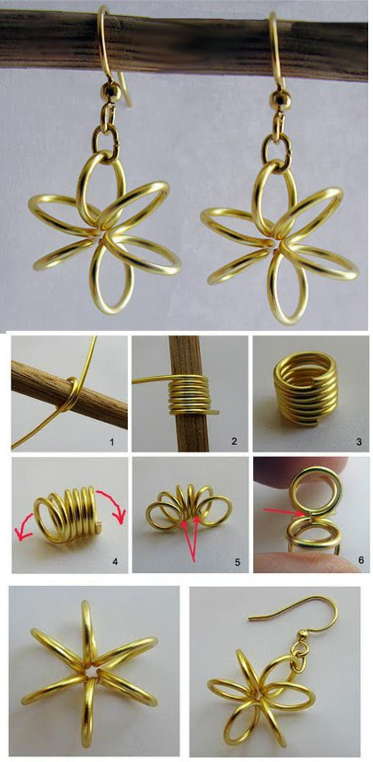 Find This Pin And More On Manualidades Con Alambre Diy Wire Earringsso