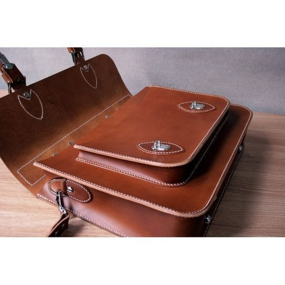 Bag Pattern Briefcase Pattern Man shoulder bag PDF ACC-07 leather craft patterns leather art leather supply 0