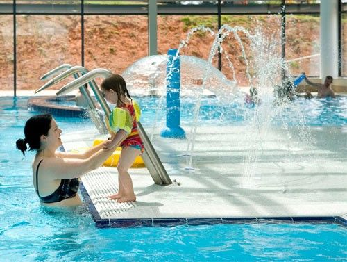 Cofton Holiday Park Swimming Pool Indoor Pool With Water Jets And Outdoor Pool Open To The