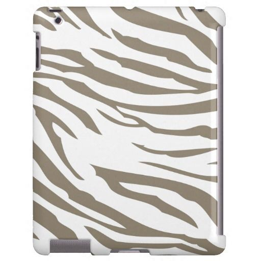 Neutral Zebra Print iPad case