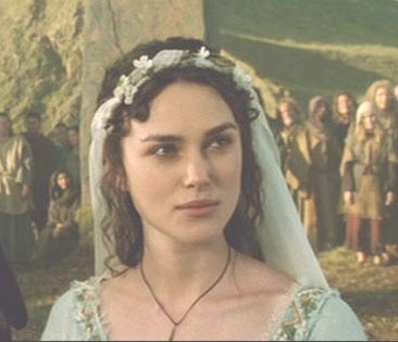 King Arthur-- I loved her wedding veil