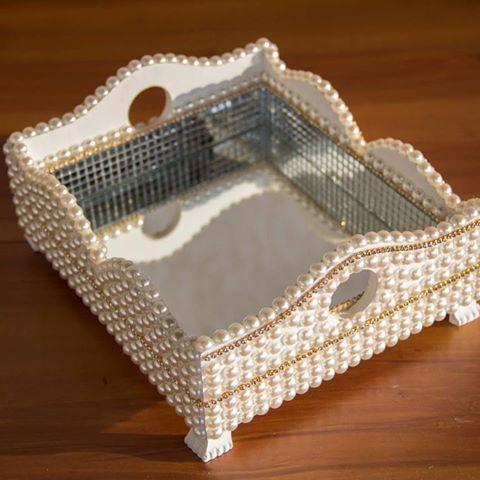 Caixa personalizada | mdf | artesanato | decorada | pérolas