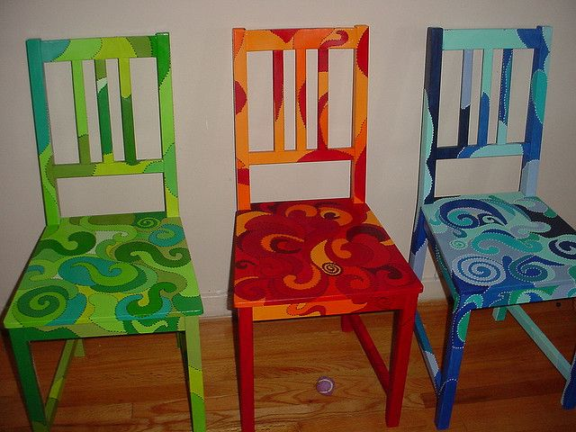 Funky Hand Painted Furniture   Spring Fall and Winter   Flickr   Photo  Sharing Top 25  best Whimsical painted furniture ideas on Pinterest  . Hand Painted Dining Table And Chairs. Home Design Ideas