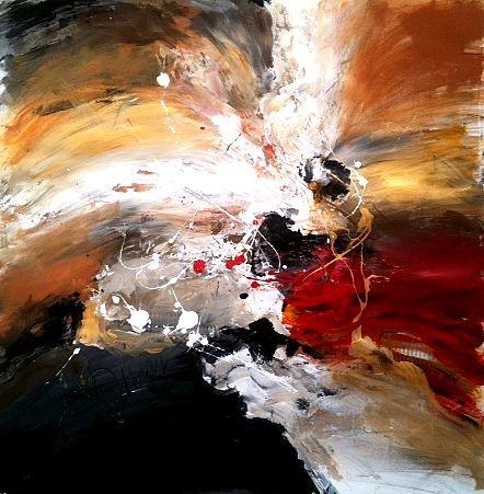 Dan Bunea vivant peintures abstraites , - We will be victorious, 2011,acrylique sur toile,80x80cm,
