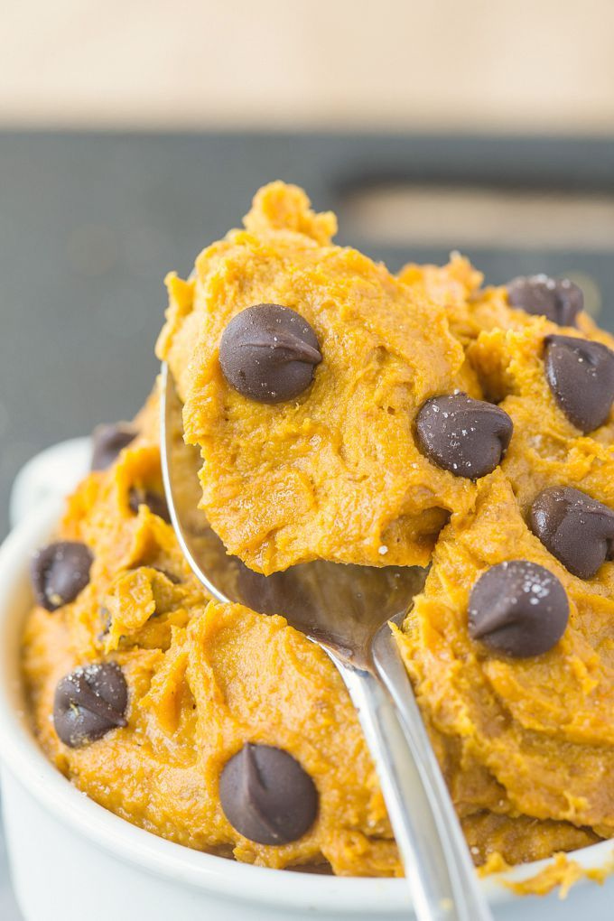 Healthy Pumpkin Cookie Dough for One (Paleo, Vegan, Gluten-Free) - A delicious, guilt-free snack or treat which is full of fiber, protein and low sugar!
