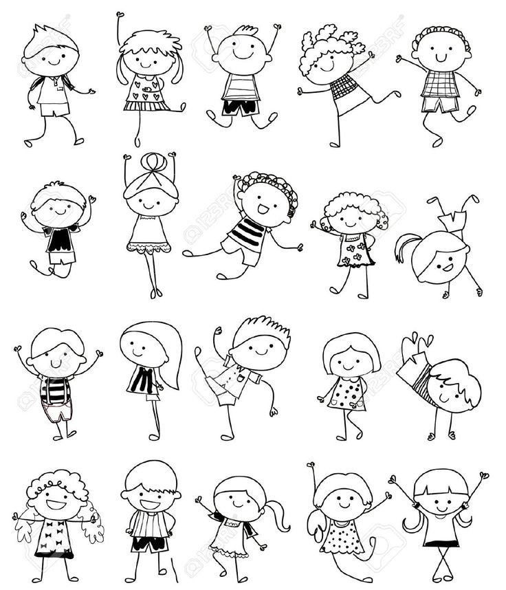 Drawing Sketch - Group Of Kids Royalty Free Cliparts, Vectors, And Stock Illustration. Image 33674253.