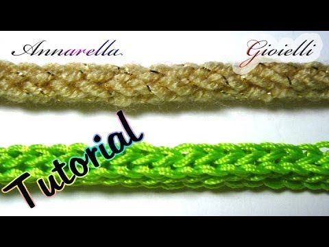 ▶ Tutorial tubolare tricotin all'uncinetto | How to crochet an i cord - YouTube