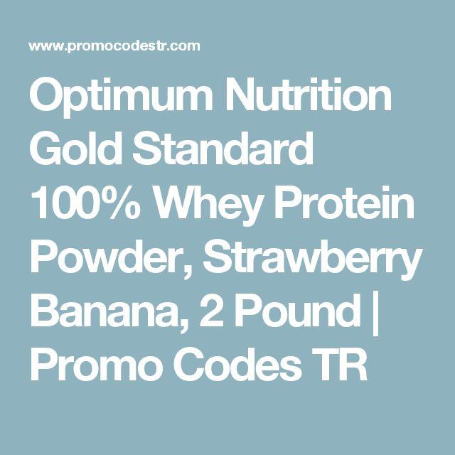 Optimum Nutrition Gold Standard 100% Whey Protein Powder, Strawberry Banana, 2 Pound | Promo Codes TR