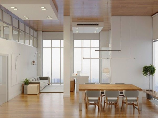 Natural wood flooring? Check. Minimal and simple? Check. Sometimes simple is best! Beautiful dining nook