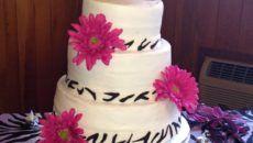 perfect zebra print wedding cakes 2016 with zebra print ribbon color