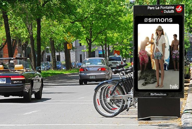 Bixi - Simons  #StreetFurniture #Bike #Velo #Bixi #OutdoorAdvertising  #AffichageExterieur #AstralOutOfHome #AstralAffichage #Publicite #Ads #Billboard #PanneauAffichage #Montreal